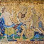 Pompei, turisti rubano pezzi di affreschi