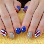 unghie moda autunno 2015, nail art, unghie a righe, unghie decorate,