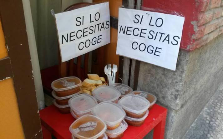 cibo in avanzo donato ai bisognosi