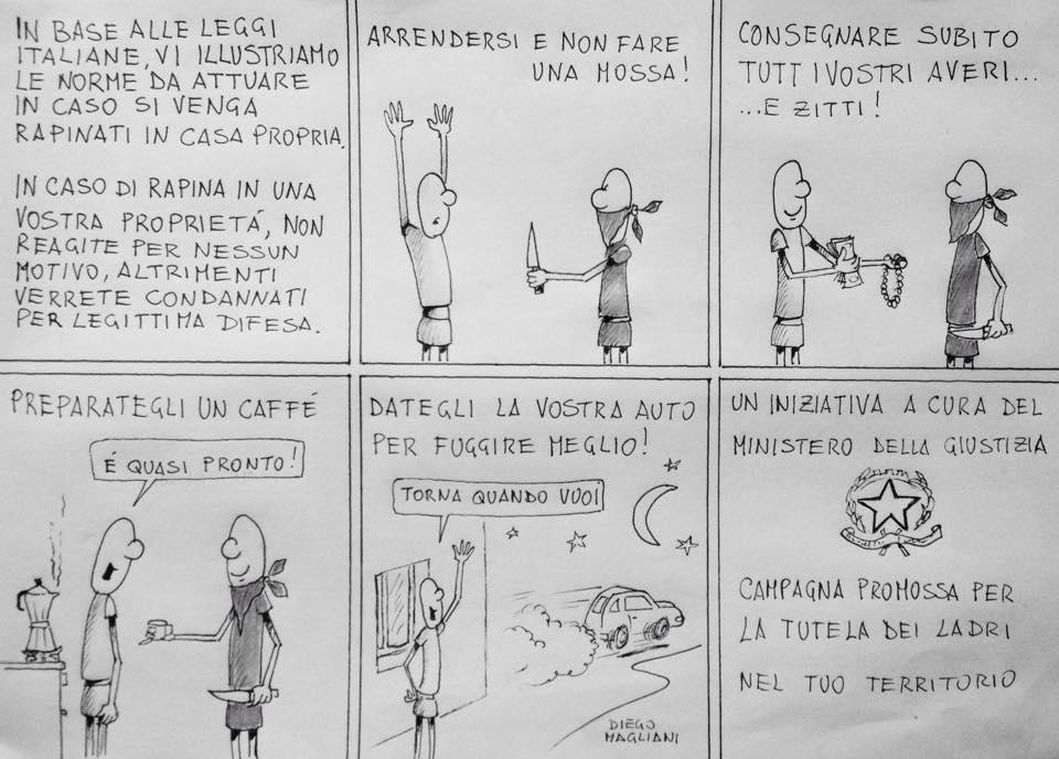 La Legge Uguale per tutti vignetta Diego Magliani