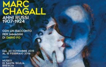 Marc Chagall – Gli anni Russi, a Brescia dal 20 Novembre: prezzi e orari della mostra accompagnata da immagini di Dario Fo