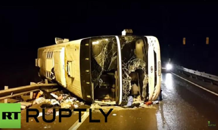 incidente russia autobus