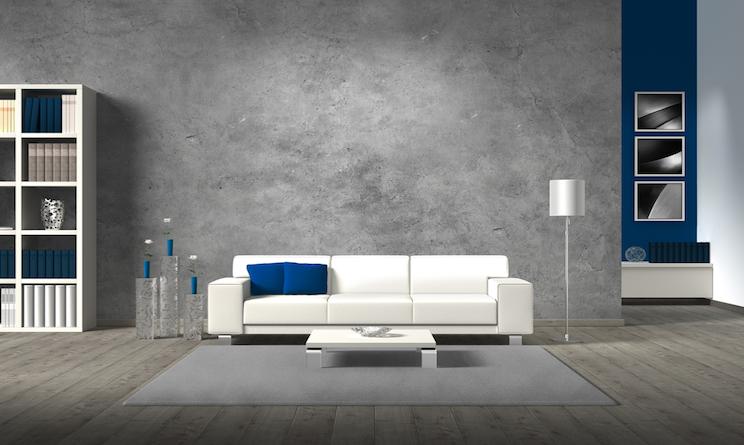 Arredare casa in stile contemporaneo linee essenziali blu e grigio tempesta urbanpost - Stile contemporaneo mobili ...