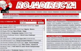 Addio al calcio in streaming: chiuso il portale Rojadirecta