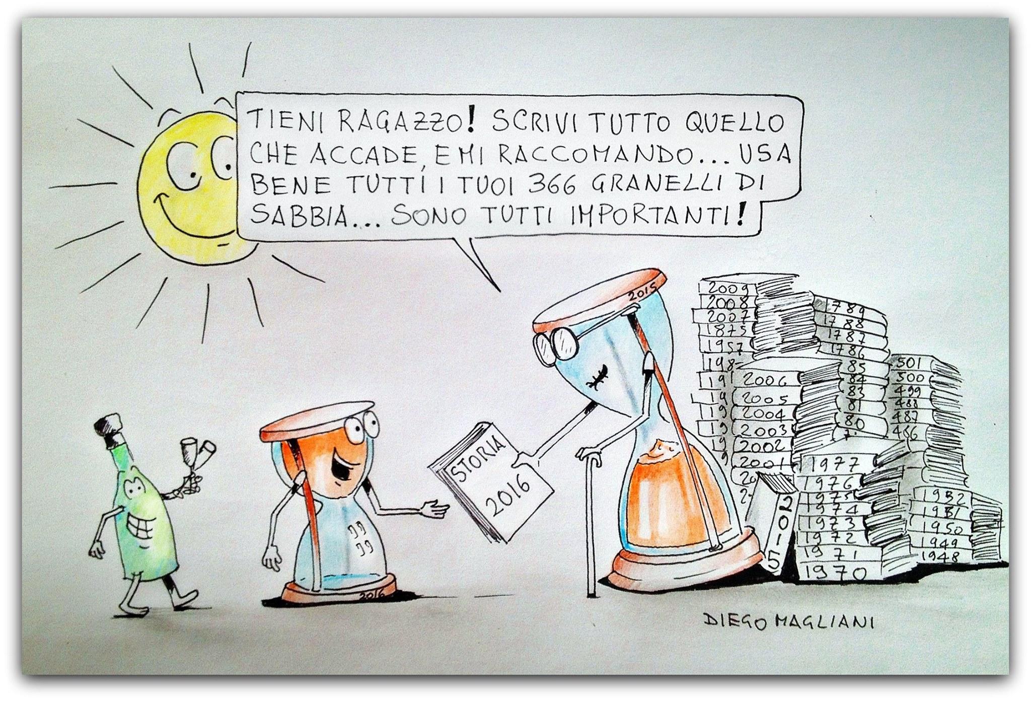 Questo è un anno molto fortunato vignetta Diego Magliani