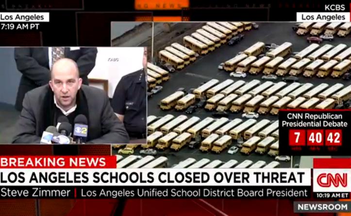 Allarme bomba, Los Angeles chiude scuole