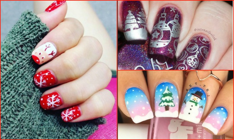 Unghie natalizie 2015 idee per un nail art di natale for Decorazioni natalizie unghie