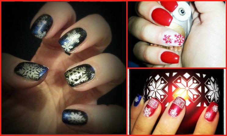 Unghie natalizie 10 idee per un nail art spettacolare per for Decorazioni natalizie unghie