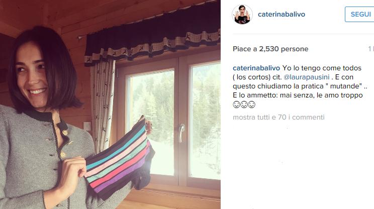 Caterina Balivo senza mutande ne