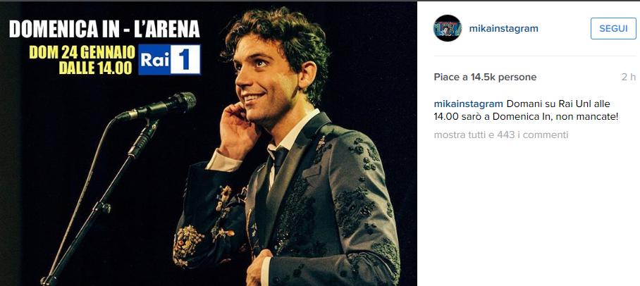 Mika a L'Arena Giletti