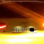 trovata bruciata audi gialla ricercata