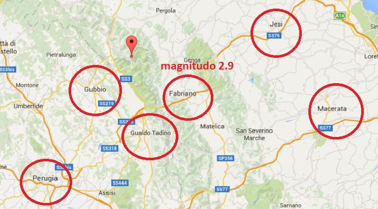 terremoto oggi gubbio