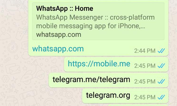 WhatsApp web login pc: Telegram bloccato dall'applicazione