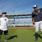 Baseball yankees senza mani