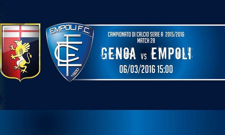Genoa Empoli probabili formazioni