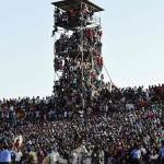 Nigeria-Egitto persone stadio