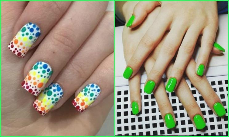 Famoso Unghie Primavera Estate 2016: colori fluo e pois per la bella  OT28