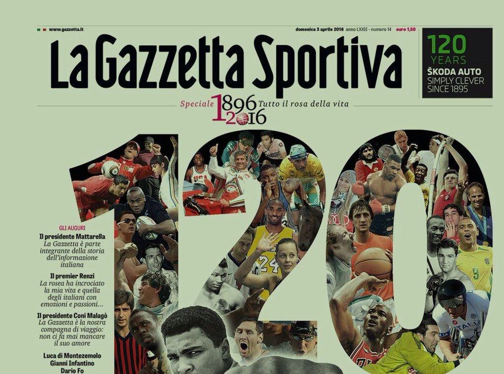 Gazzetta dello Sport 120 anni