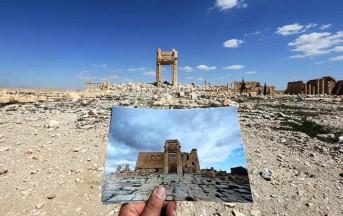 Palmira, Isis continua la sua opera di distruzione: in polvere la facciata del Teatro e il Tetrapylon