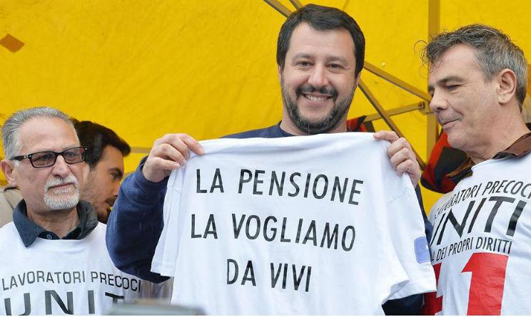 Riforma pensioni Matteo Salvini con i lavoratori precoci