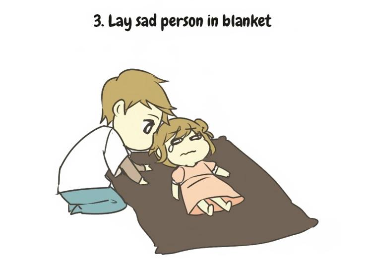 prendersi cura di una persona triste