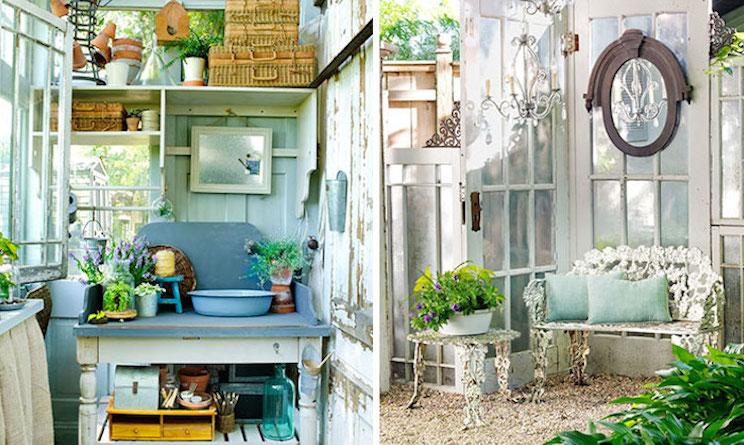 Bisogno di spazio le casette da giardino al femminile for Giardino shabby chic fai da te