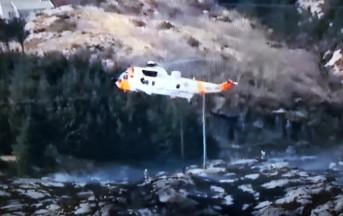 Elicottero precipitato in Norvegia: a bordo anche un italiano