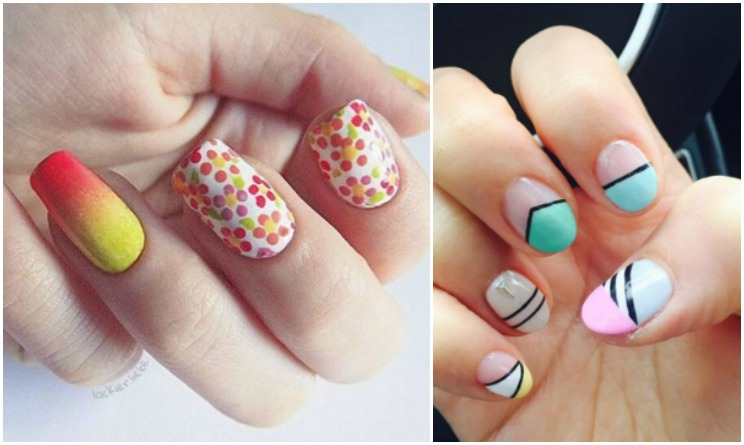 Top Unghie Primavera Estate 2016: come fare un nail art colorato e  MK25