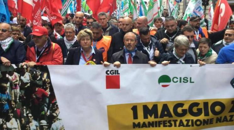 Riforma pensioni 1° maggio a Genova i sindacati