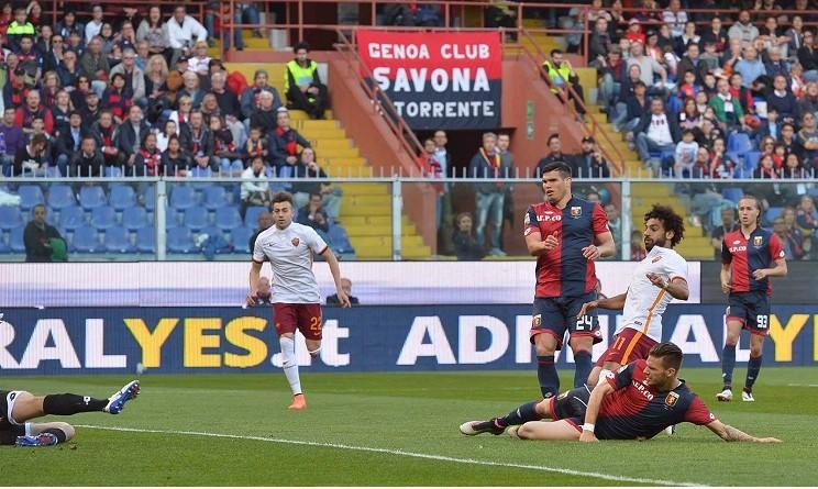 Genoa-Roma 0-1: Szczesny porta la Lupa ad un punto dalla vetta