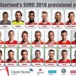 convocati Svizzera Euro 2016,