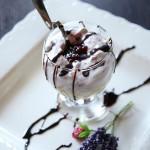 coppa al cioccolato bianco e amarene