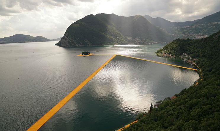The Floating Piers al Lago d'Iseo parcheggi e info