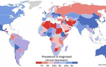 Depressione e ansia: la mappa mondiale delle nazioni più colpite