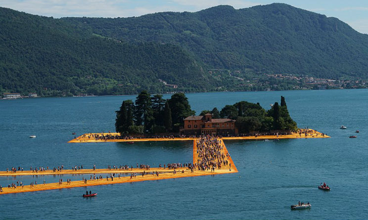 Christo lago d'Iseo The Floating Piers
