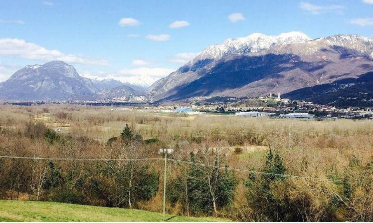 """Panorama del Friuli, foto tratta dalla pagina Facebook """"BiciTerapia di una Mila Vagante"""""""