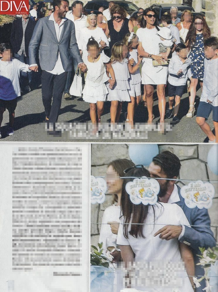 Ilaria D'Amico e Gigi Buffon battesimo figlio