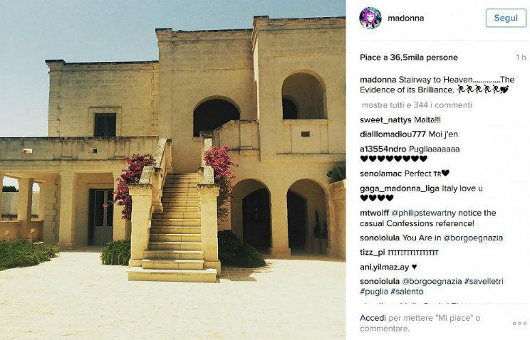 Madonna vacanza in Puglia