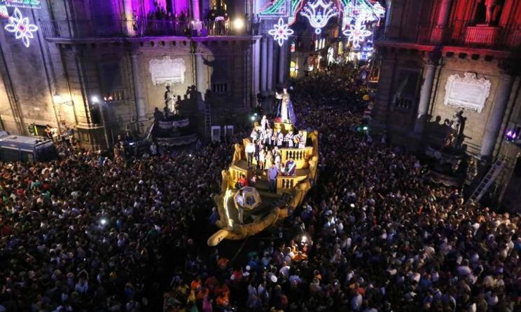 Palermo festa di Santa Rosalia folclore