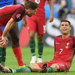 Cristiano Ronaldo Portogallo infortunio