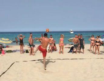 Bobo Vieri battuto a footvolley a Formentera: ecco chi ha sconfitto il bomber