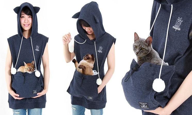 amanti dei gatti, amanti dei gatti accessori, amanti dei gatti felpa, felpa con tasca per gatto,