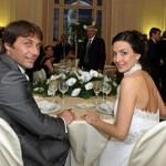 Antonio Conte e la moglie Elisabetta Muscarello