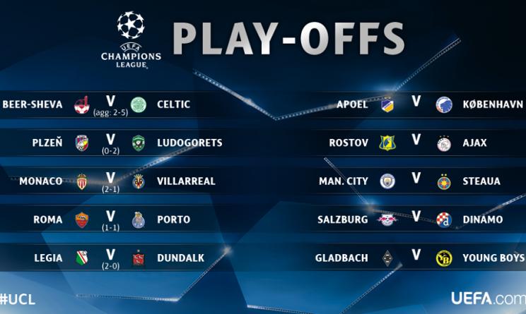 Champions League, City ai gironi, crollo Ajax, oggi i sorteggi