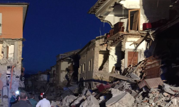 INGV: scossa di terremoto ad Amatrice, magnitudo 3.8. Protezione Civile al lavoro