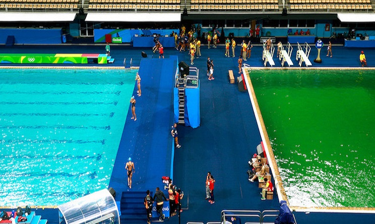 Olimpiadi rio 2016 il mistero dell 39 acqua verde svelato - Piscina olimpiadi ...