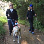 Dajana e Camilla, non vedente e cane guida Cammino Santiago