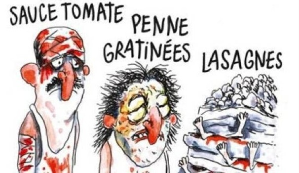Charlie Hebdo terremoto in Italia
