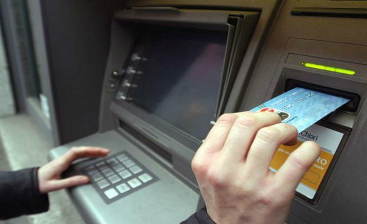 Prelievo bancomat 2018