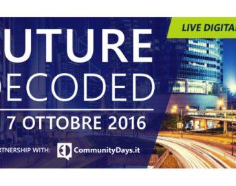 Innovazione, Future Decoded 2016: due giorni di formazione con Microsoft
